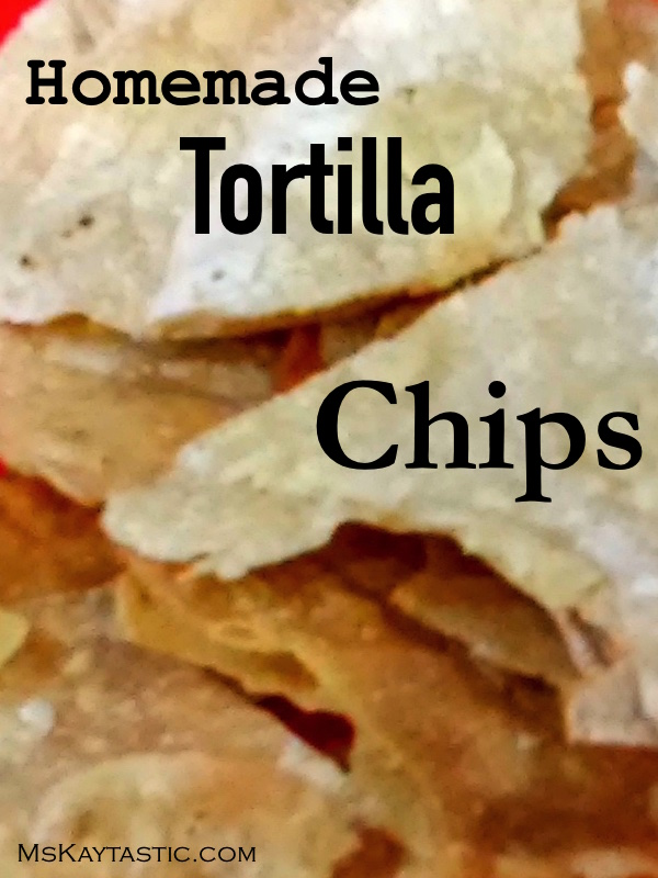 party I made these homemade tortilla chips by using existing tortilla ...
